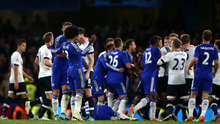 Chelsea's bad-tempered 2-2 draw with Tottenham handed Leicester the Premier League title