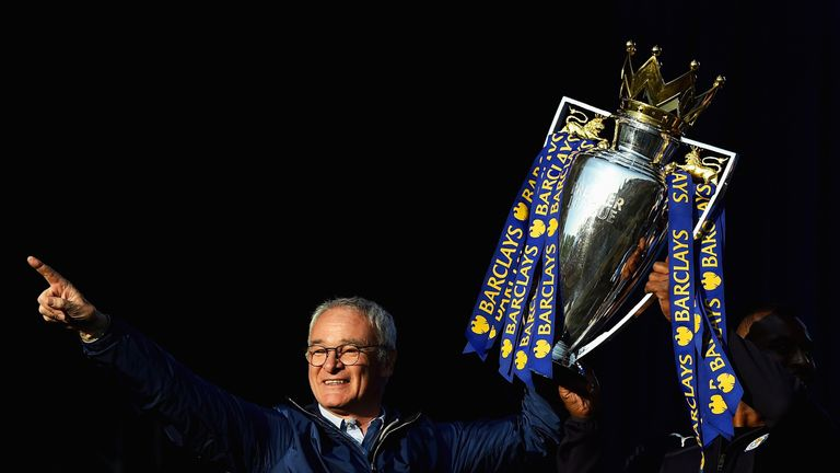 Ranieri and Leicester celebrated their title success on Monday