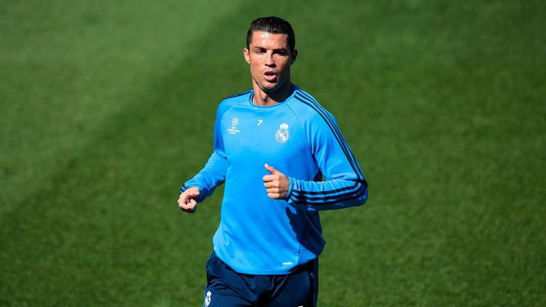 sports shoes 1e22a 8a6a8 Cristiano Ronaldo back in training with Real Madrid after ...