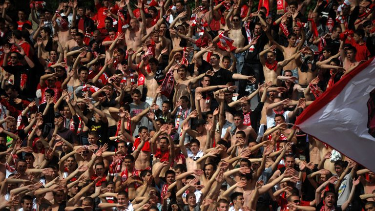 CSKA Sofia supporters are celebrating their club's return to prominence