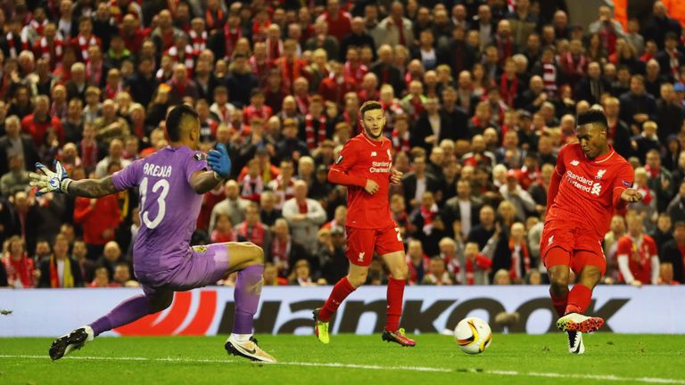 Daniel Sturridge scored Liverpool's second just after the hour mark