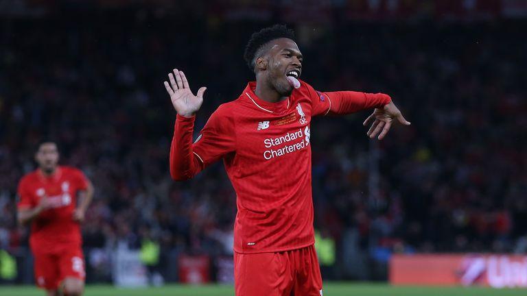 Daniel Sturridge of Liverpool celebrates scoring