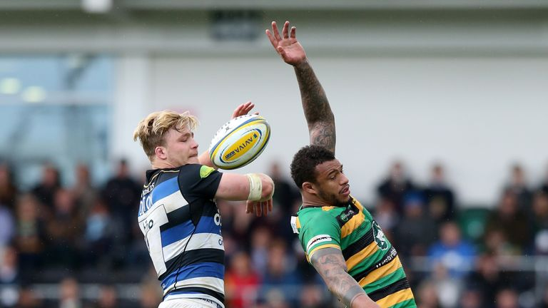 Courtney Lawes (right) will look to force his way back into England reckoning with a strong performance against Wales