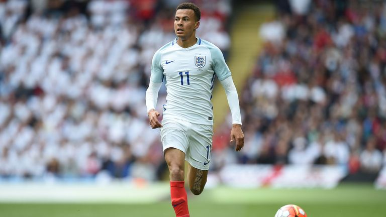 Alli was selected by Roy Hodgson for this summer's Euros