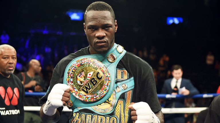 Deontay Wilder is the current WBC world heavyweight champ
