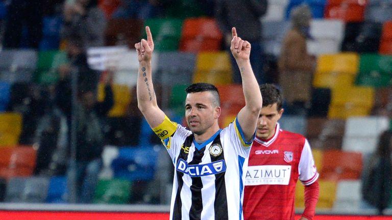 Antonio Di Natale bowed out against Capri