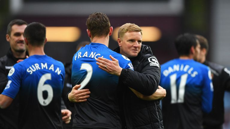 Bournemouth boss Eddie Howe has praised his side's achievement in staying in the Premier League