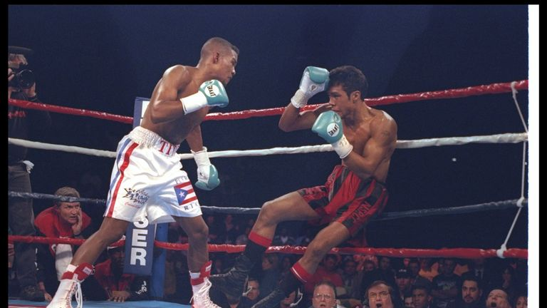 Kevin Lueshing challenged Felix Trinidad for the IBF belt in 1997 and floored the Puerto Rican before being stopped