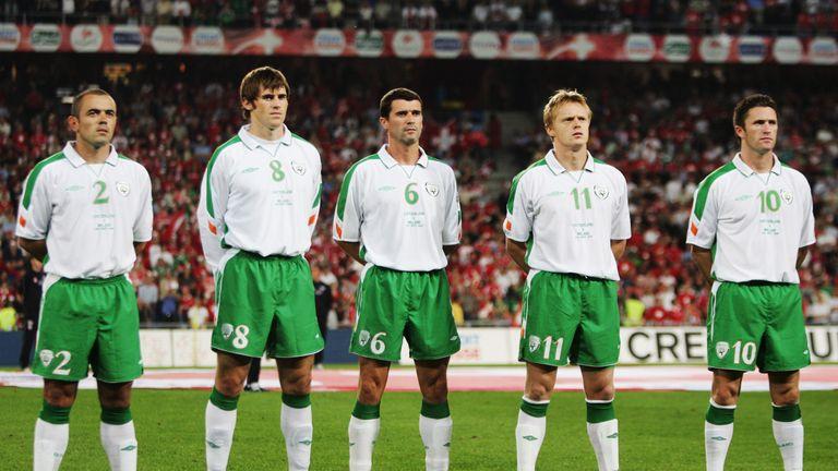 Stephen Carr;Kevin Kilbane;Roy Keane;Damian Duff,Robbie Keane