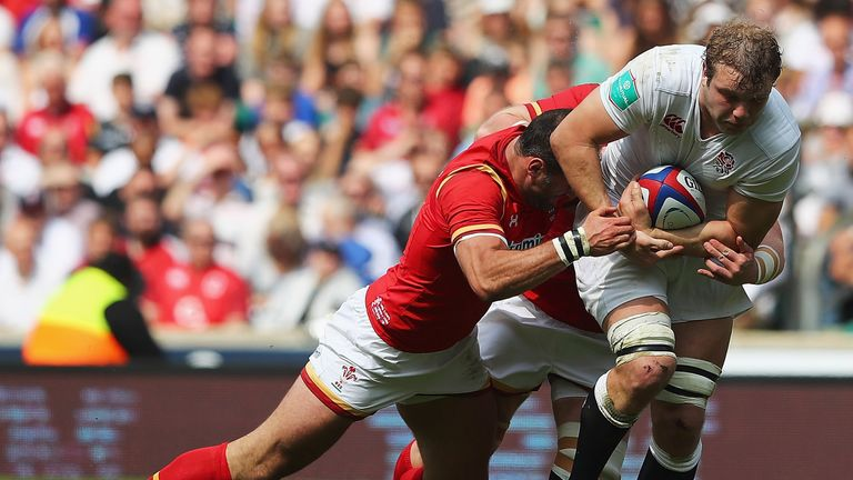 Joe Launchbury was man-of-the-match as England eased past Wales