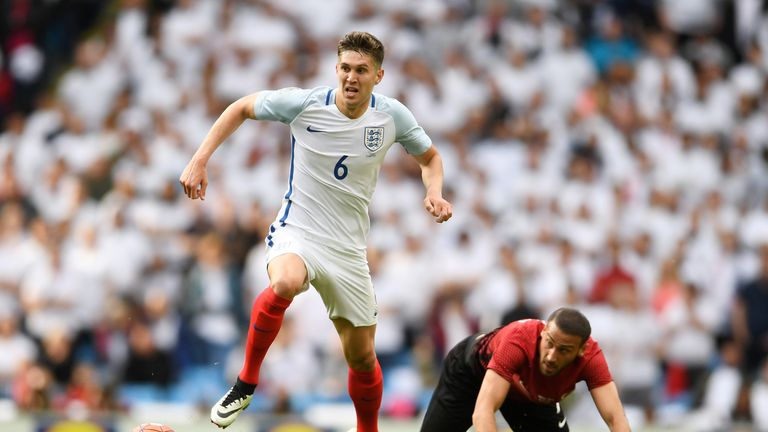 John Stones has won 10 caps since his England debut in 2014