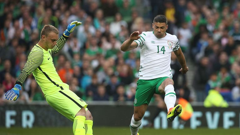 Jonathan Walters will lead the line for the Republic of Ireland