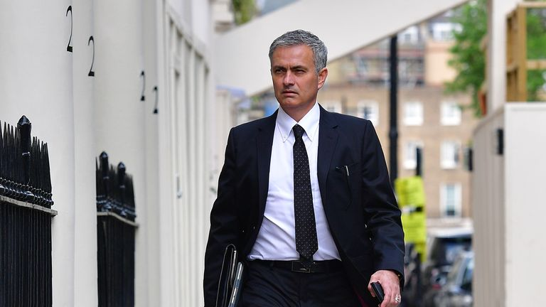 Mourinho put pen to paper at a central London hotel