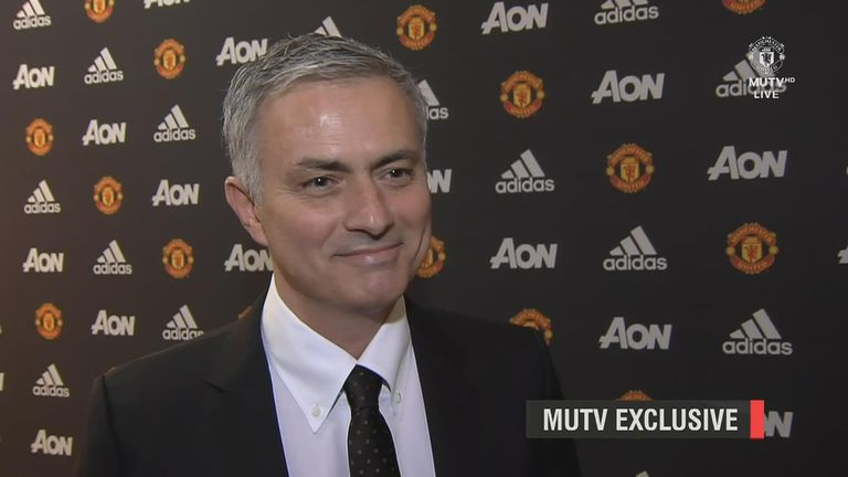 Jose Mourinho Manchester United interview screengrab from MUTV