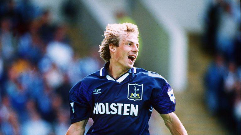 Jurgen Klinsmann scored 20 Premier League goals in 1994/95