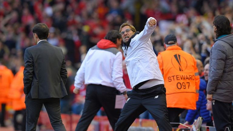Jurgen Klopp is within one game of winning a European trophy with Liverpool