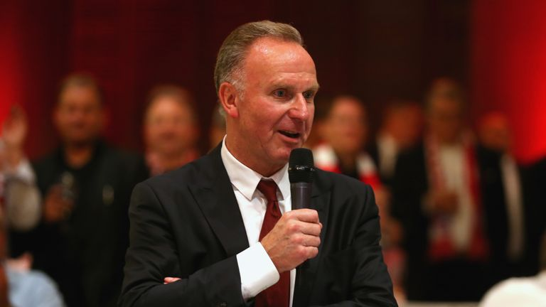 Karl-Heinz Rummenigge during the UEFA Champions League semi final
