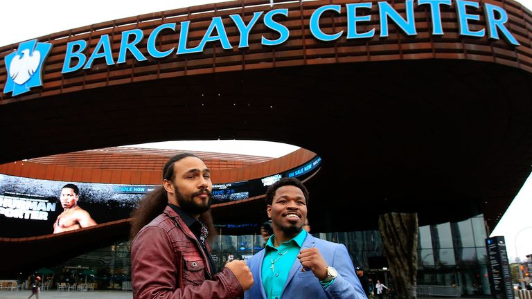 Keith Thurman (L) and Shawn Porter will clash at the Barclays Center