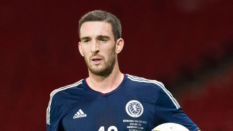 15/11/13 INTERNATIONAL FRIENDLY.SCOTLAND v USA.HAMPDEN - GLASGOW.Lee Wallace in action for Scotland
