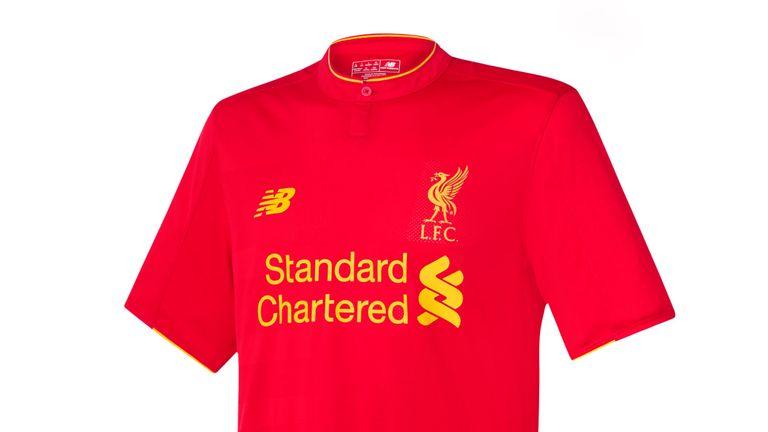 Liverpool's home kit for the 2016/17 season (image c/o Liverpool FC)