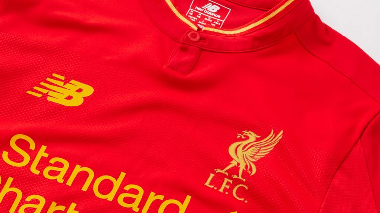 low priced c2394 a3cd6 Liverpool unveil new red and gold home strip for 2016-17 ...
