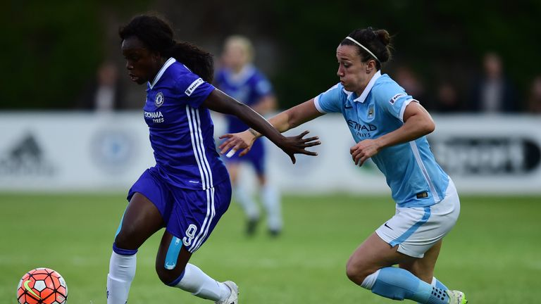 Lucy Bronze and Manchester City got the better of Eniola Aluko and Chelsea in Staines on Thursday
