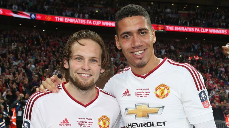 Daley Blind formed a successful defensive partnership with Chris Smalling last season