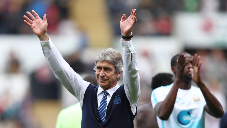 Pellegrini waved goodbye to City earlier this summer