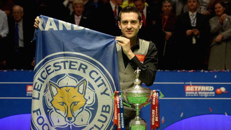 Selby won the world title last year on the same night his football club Leicester City were crowned Premier League champions