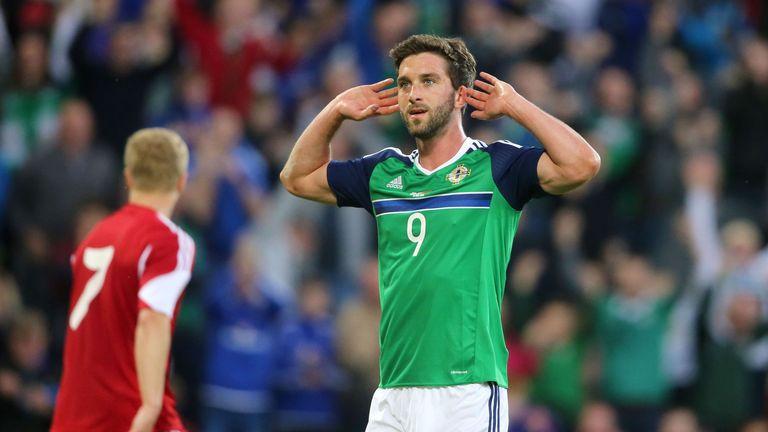 Northern Ireland's Will Grigg celebrates