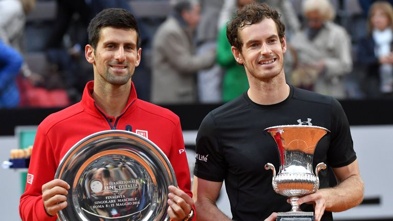 Murray defeated Djokovic for only the 10th time in his career