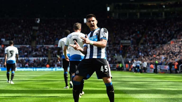 Aleksandar Mitrovic also scored, but was sent off in the second half