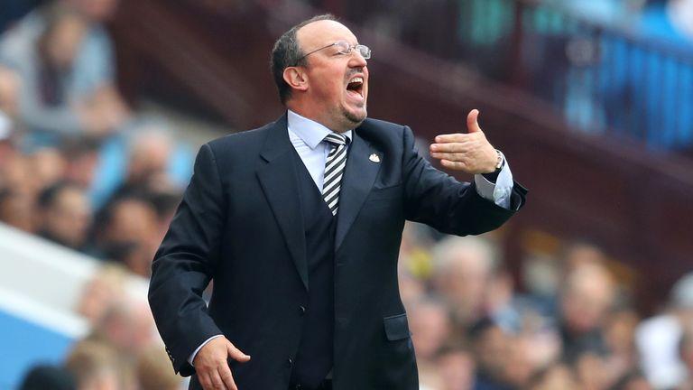 Rafael Benitez was unhappy with missed chances against Aston Villa