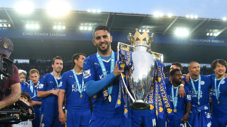 Riyad Mahrez has been elected by Leicester City's supporters as their player of the year