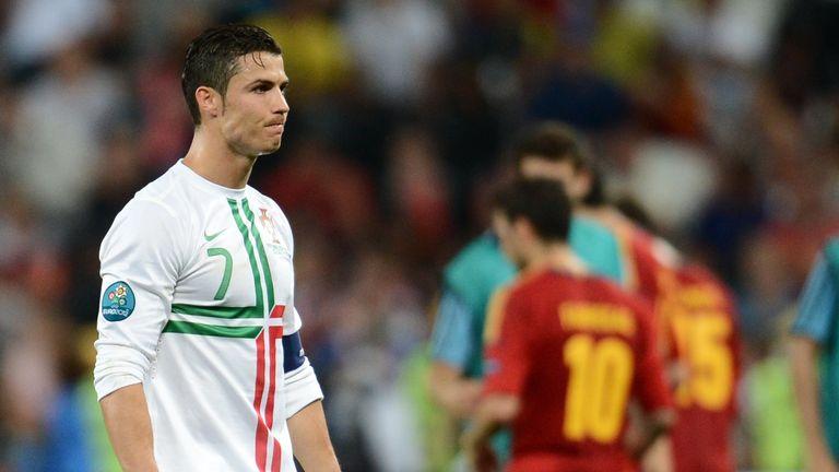 Ronaldo did not take a penalty as Portugal were beaten by Spain in 2012
