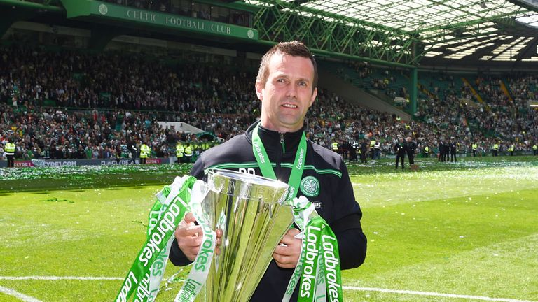 Ronny Deila paraded the Scottish Premiership trophy for the second time on Sunday