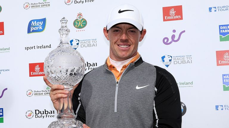 Rory McIlroy with the Irish Open trophy