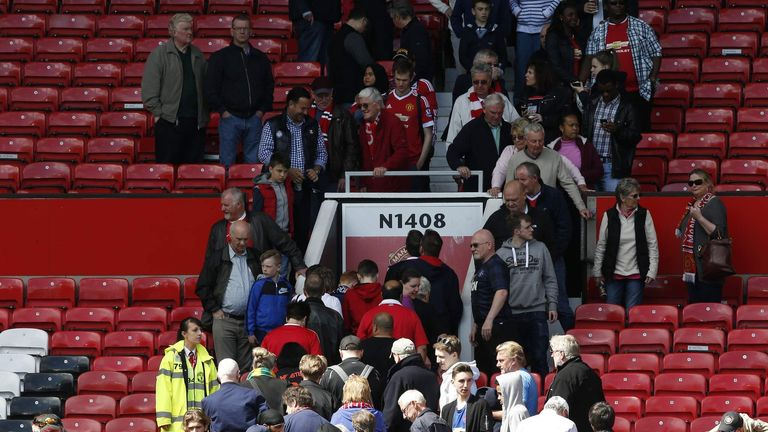 Fans had to be evacuated from Old Trafford after a suspect package was found