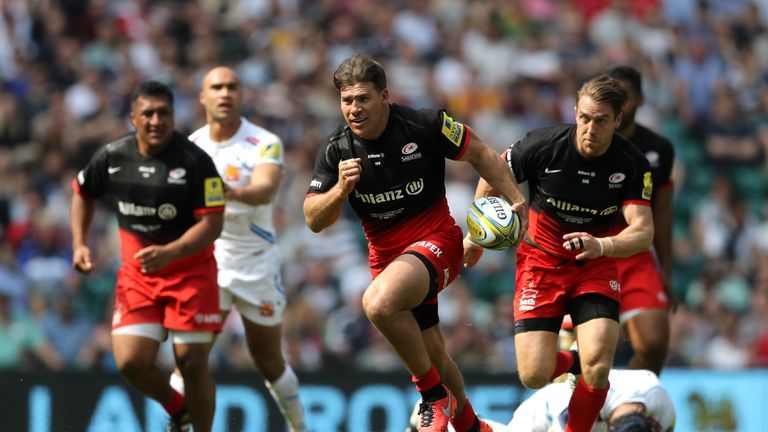 Schalk Brits sparked the Saracens attack into life as they claimed a historic European and domestic double