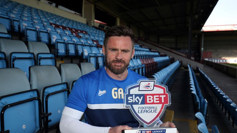 Sky Bet League One Manager of the Month Graham Alexander of Scunthorpe United
