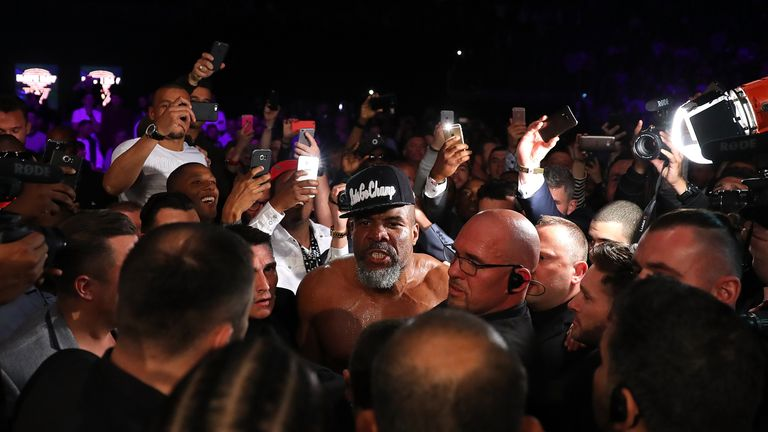 Shannon Briggs was stealing the show after winning his UK debut