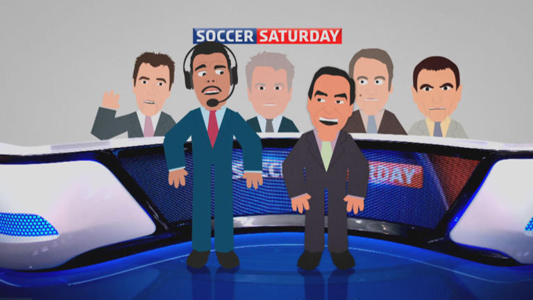 Don't miss Soccer Saturday with Jeff Stelling and the boys.