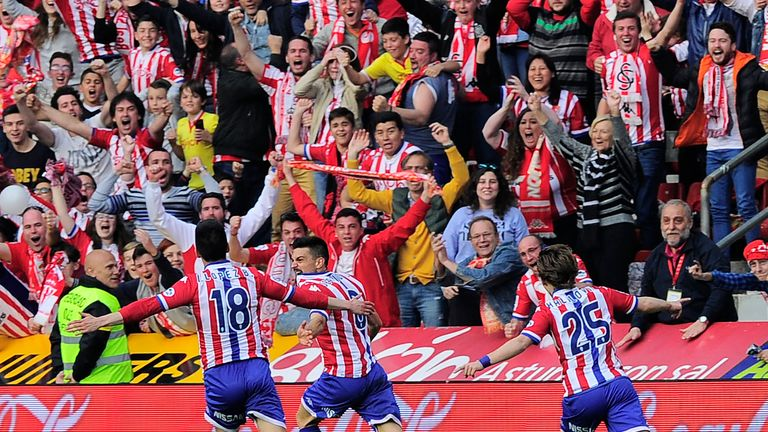 It was joy for Sporting Gijon as they beat Villarreal 2-0