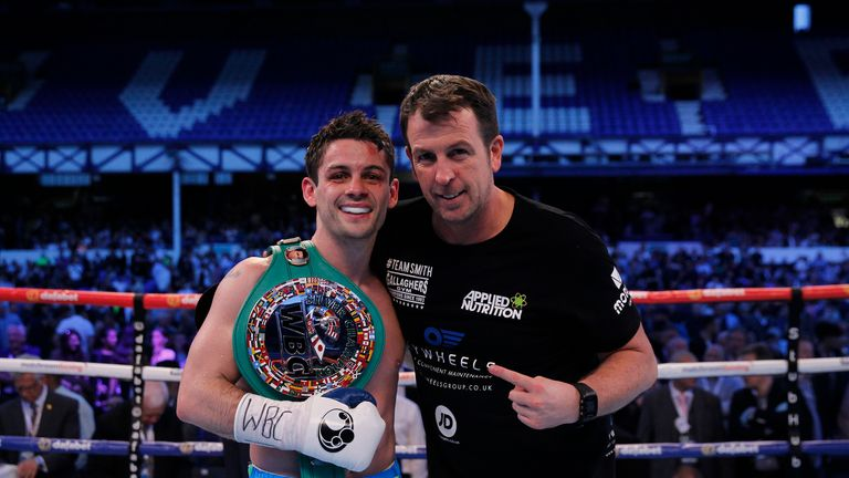 REAL LIFE ROCKY STORY PROMOTION GOODISON PARK,LIVERPOOL PIC;LAWRENCE LUSTIG VACANT WBC SILVER SUPER FEATHERWEIGHT CHAMPIONSHIP @9ST 4LBS STEPHEN SMITH V DA