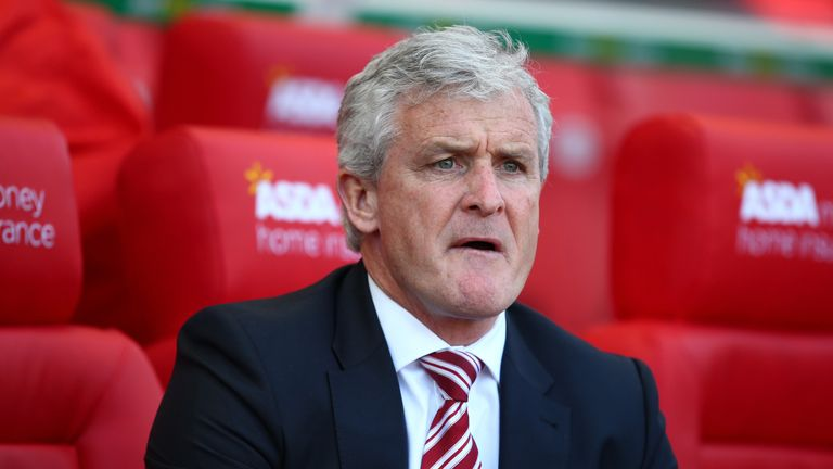 Stoke manager Mark Hughes is currently  considering his transfer options