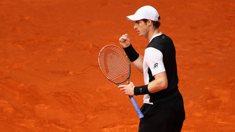 Murray celebrates beating home favourite Nadal