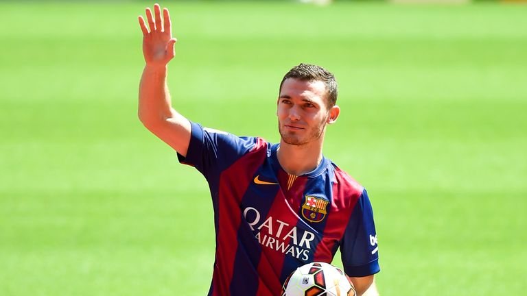 Thomas Vermaelen has played 11 times in two years for Barcelona