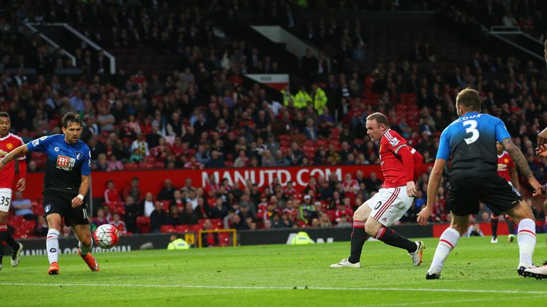 Rooney's 100th Old Trafford goal was right-footed