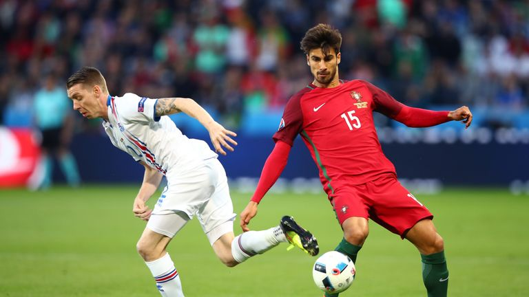 Andre Gomes in action against Iceland on Tuesday