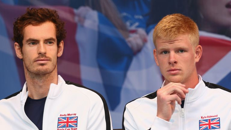 Edmund made his Davis Cup debut alongside Andy Murray when Great Britain won the Davis Cup in 2015